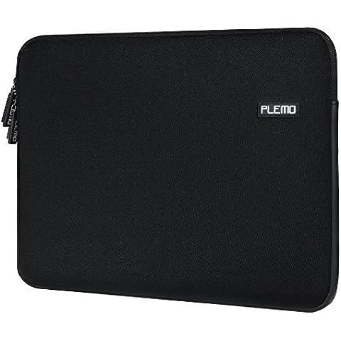PLEMO Fundas para Portatil Funda Protectora MacBook / MacBook Pro / MacBook Air /Ultra ordenador portátil 13-13.3 Pulgadas,Color Negro