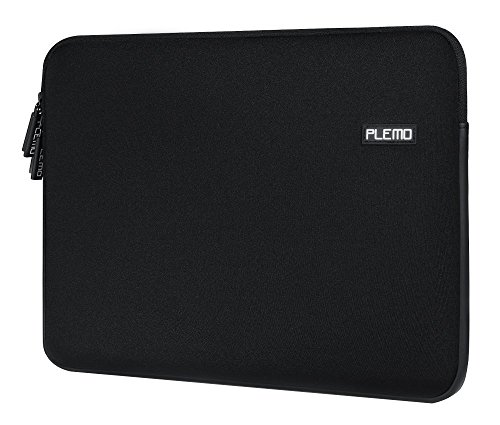 Laptop Sleeve, PLEMO Water-Resistant Soft Neoprene 13 - 13.3 Inch Laptop Case Sleeve Cover Bag for 12.9 iPad Pro / 13.3 Inch MacBook Air / MacBook Pro / Pro Retina / Notebook Computer / Tablet PC / Ultrabook / Chromebook, Black