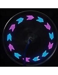 12 Color de Hot Wheels luz de la noche lámpara de rayos de la bicicleta 7 LED a todo color transparente destacado una variedad de patrones