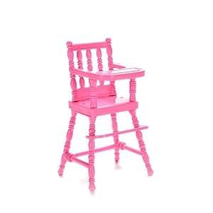 U HoMEy Mini Doll High Chair Plastic Feeding Chair For