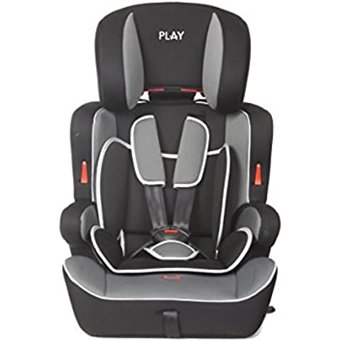 Casualplay Safe Ten -  Silla de coche grupo 1/2/3, color negro y gris