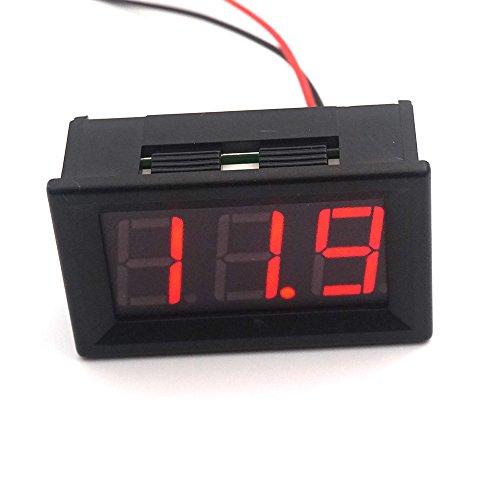Battery Meter (Linchview LED Voltmeter Spannungsprüfer Spannungsanzeige DC 7-150V Panel Meter Voltage Gauge (Rot))