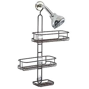 interdesign linea verstellbarer dusch caddy duschablage mit 2 k rben und seifenschale. Black Bedroom Furniture Sets. Home Design Ideas