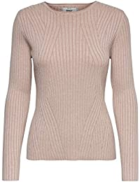 Only Onlnatalia L/S Rib Pullover Knt Noos Felpa Donna
