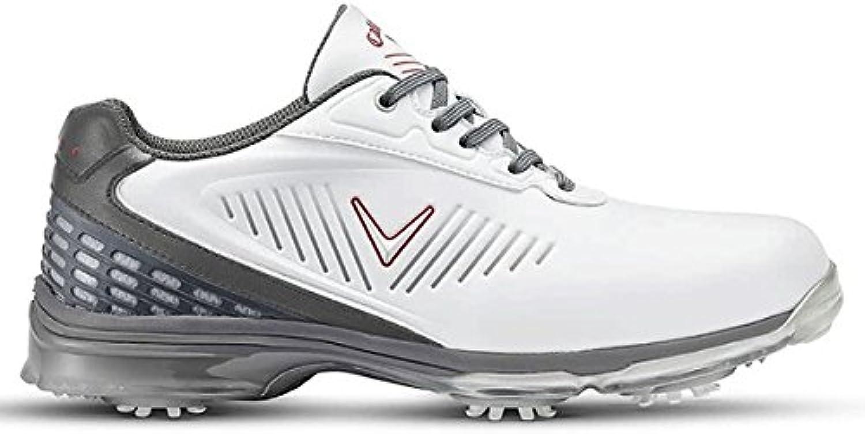 Callaway Xfer Nitro Zapatillas de Golf, Hombre, Blanco (White/Grey), 39 EU