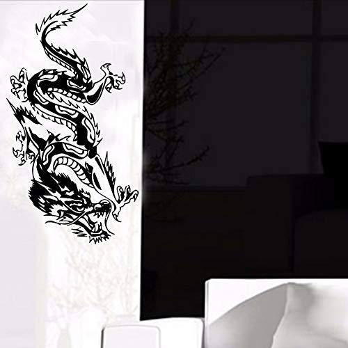 Waofe vendita calda oriental dragon wall sticker porta decorazione stampata vinile rimovibile animale decalcomania home decor art 44 * 81 cm