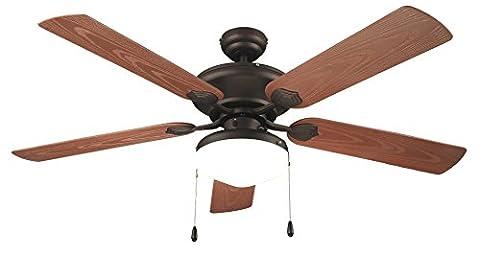 Air & Light THIKA Ventilateur de plafond avec éclairage/utilisation extérieur 132 cm