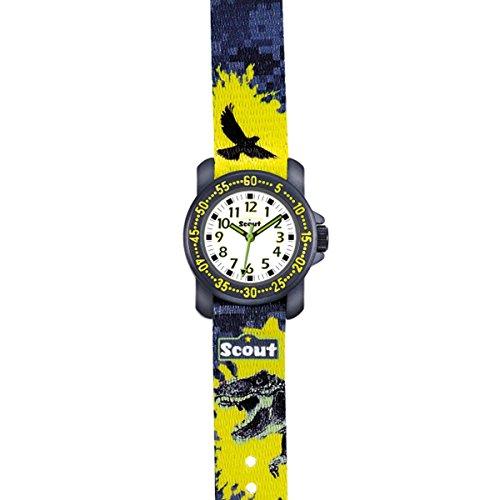 Scout Jungen-Armbanduhr Analog Quarz Textil 280376039 - 2