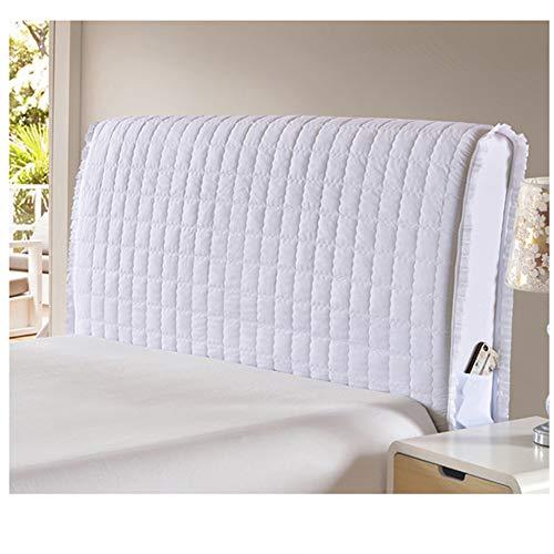 Copri testata letto in cotone protezione copertura antipolvere cover addensare antigraffio cuscino morbido lavabile decorazione per camera da letto,white-180 * 65cm