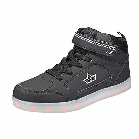 Lico Unisex-Kinder Disco High Hohe Sneaker, Schwarz (Schwarz), 35 EU