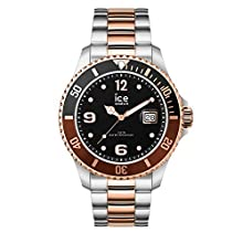 Ice-Watch - ICE steel Chic silver rose-gold - Men's wristwatch with metal strap - 016548 (Large)