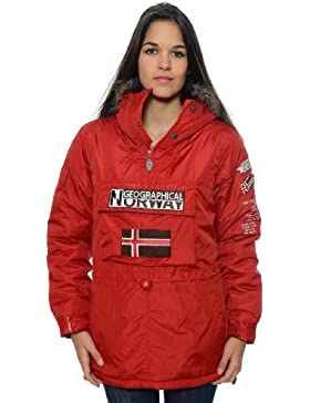 Geographical Norway–Parka de mujer, color rojo