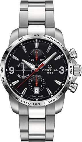 Certina Herren-Armbanduhr XL Chronograph Automatik Leder C001.427.11.057.00