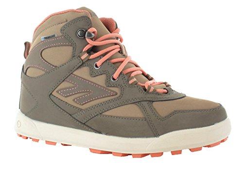 - Tec-Phoenix WP Damen Faux Nubuck Wasserdicht Walking Stiefel Tabak/taupe/lachs Tobacco/Taupe/Salmon