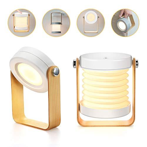 Bromose - Lámpara de mesilla de noche regulable táctil, luz nocturna para bebé, portátil, mini lamparas...