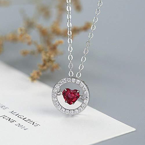 Anhänger Halskette-Liebe Halskette_S925 Silber Liebe Geist Bewegende Halskette Mode Japan Und Südkorea Schlüsselbein Kette Set Kette