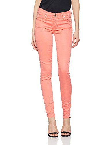7 For All Mankind Damen Jeans the Skinny Rot (Coral 0BS)