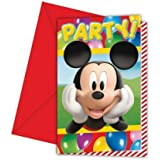 Mickey Mouse Party Time - Mickey Mouse Party Invitations x 6 by Missy Moo