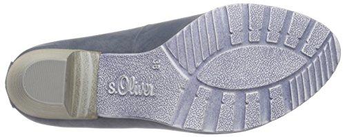 s.Oliver - 22404, Scarpe col tacco Donna Blu (Blau (DENIM 802))