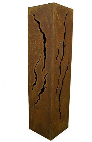 Rostikal Colonne Fissures Hauteur 80 cm Rectangulaire