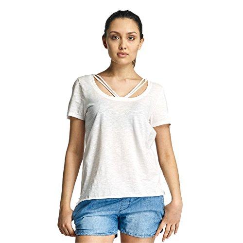 Only Damen Oberteile / T-Shirt onlLeah Bone Weiß