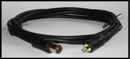 Universal AV Kabel Konsolen Antennenkabel / TV-Verbindungskabel (funktioniert mit: SNES Super Nintendo, Nintendo NES, Amiga, Commodore, Sega Mega Drive 1, Sega Master System 1 + 2, Atari)