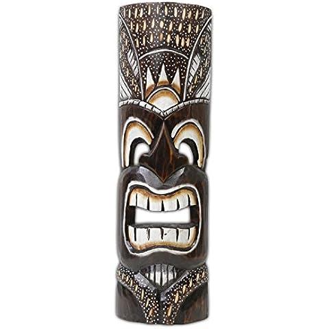 Hawaiian legno maschera decorazione da parete decorazione Isola di Pasqua Kauai Maui 50cm Bunt27
