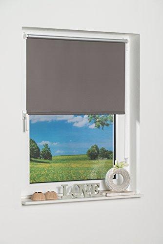 K-home 265833–5klemmfix mini tenda avvolgibile oscurante, plastica, tessuto, grigio, 50 x 150 cm