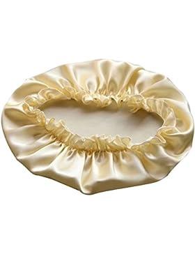 YANIBEST Sombrero de dormir de la tapa de la cabeza de la noche de seda natural Sombrero de la gorra para la belleza...