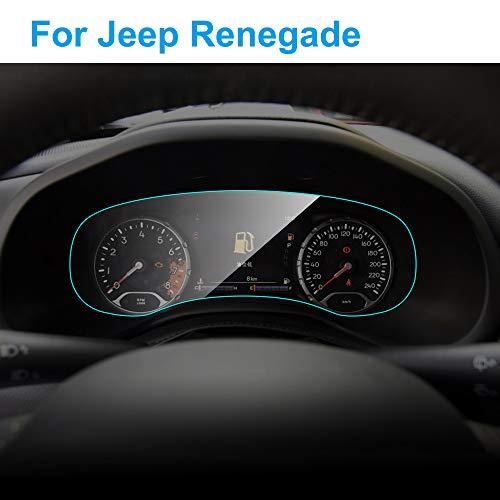 DYBANP película Protectora del Tablero de Instrumentos, para Jeep Renegade 2016-2018, Auto Interior Dashboard Membrane Protective TPU Film Accesorios para automóviles