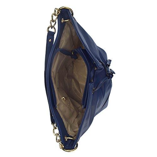 U.S.POLO ASSN. Handtasche mit schrumpfbaren Schnürsenkel 24.5-37x16x28.5 cm Schwarz