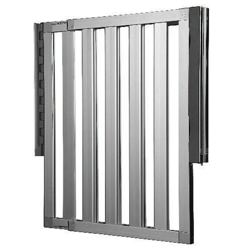 Lindam Numi erweiterbares Schutzgitter Aluminium-Verstellbreite 67,5cm bis 101cm-grau