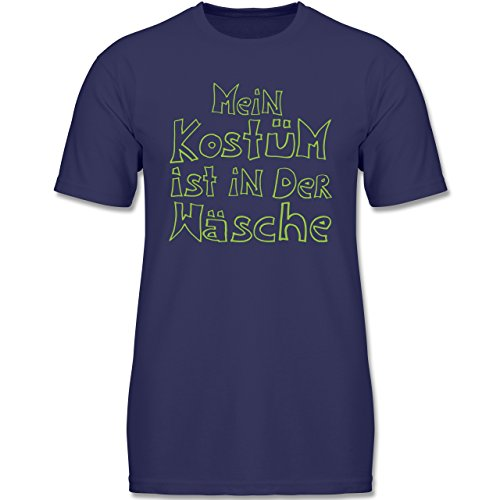 Shirtracer Karneval & Fasching Kinder - Mein Kostüm ist in der Wäsche - 140 (9-11 Jahre) - Navy Blau - F140K - Jungen T-Shirt (Lustige T-shirts Junge,)