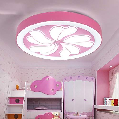 Led Runde Blume für Schlafzimmer Kinderzimmer (Pink/Silber) - energiesparend,weißes Licht,Rosa ()