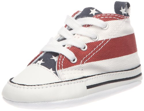 Converse First Star S&B, Baskets mode mixte bébé-Rouge (Rouge/Blanc/Marine), 19 EU