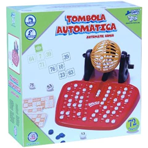 Family Games 33918 - Tombola Automatica, 72 Cartelle