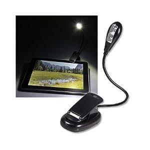 SODIAL(TM) Lampe LED de lecture š€ pince pour Apple iPad 2 WIFI/lampe Amazon Kindle/Noir
