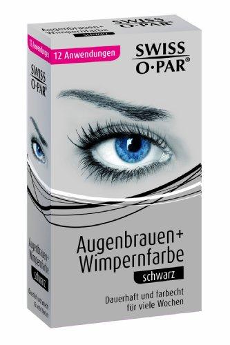 Swiss-o-Par, Colorante per ciglia e sopracciglia, per 12 utilizzi, Nero (schwarz)