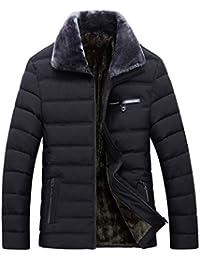 Doudoune en Coton Homme Hiver Chaud Manteau Plus Épais TWBB Veste à Capuche Automne Slim Fit Col Revers Cotton Manteaux Top Blouse