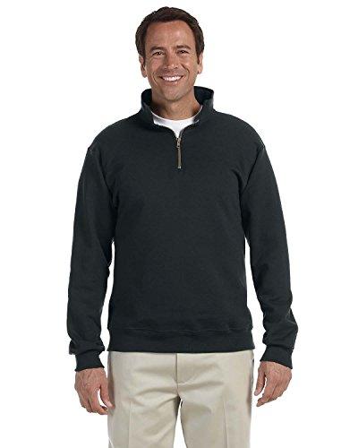 Jerzees Mens Super Sweats 50/50 Quarter-Zip Pullover (4528) -Black -2XL -