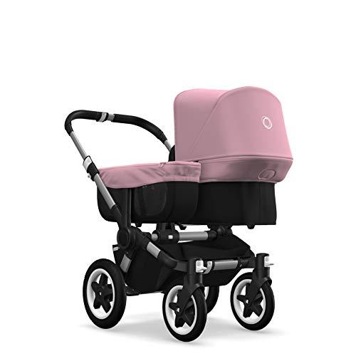 Bugaboo Donkey 2 Mono, ausziehbarer 2-in-1-Kinderwagen und Kinderwagen, Schwarz / Pastellrosa