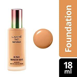 Lakmé 9 to 5 Naturale Foundation Drops, Natural Almond, 18 ml