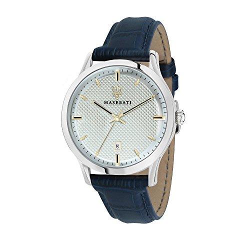 MASERATI Mens Analogue Quartz Watch with Leather Strap R8851125006