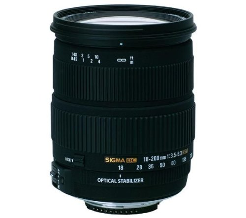 Sigma 18-200mm F/3.5-6.3 DC Optical Stabilised Zoom Lens for Nikon Digital SLR Camera with APS-C Sensors  available at amazon for Rs.51550