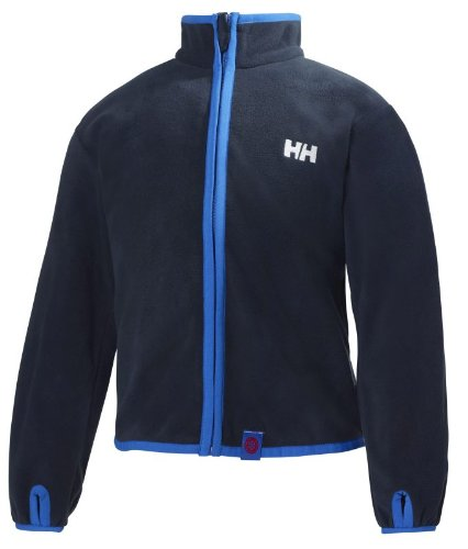 Helly Hansen Jungen-Microfleece-Jacke K, durchgängiger Reißverschluss, Herren damen, 42046, ebenholz, 4