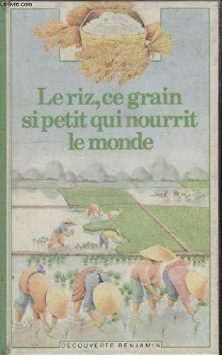 Le riz, ce grain si petit qui nourrit le monde ecrit par raphaelle brice
