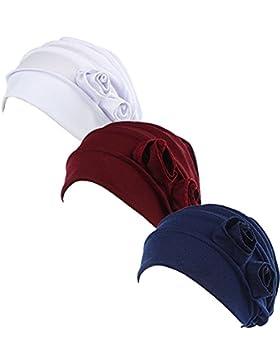 Gorro Ever Fairy® turbantes para quimioterapia, de tela elástica con estampados étnicos florales, 3 colores
