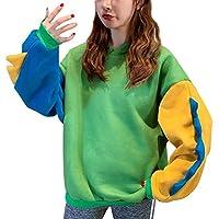 Reooly Top de Sudadera de Dinosaurio con Costuras Sueltas de Manga Larga Sueltas Fashion para Mujer