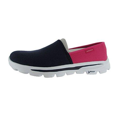 Skechers Go Passeggiata Spostare Reach 13678 Walking Loafer Scarpe Navy / Pink