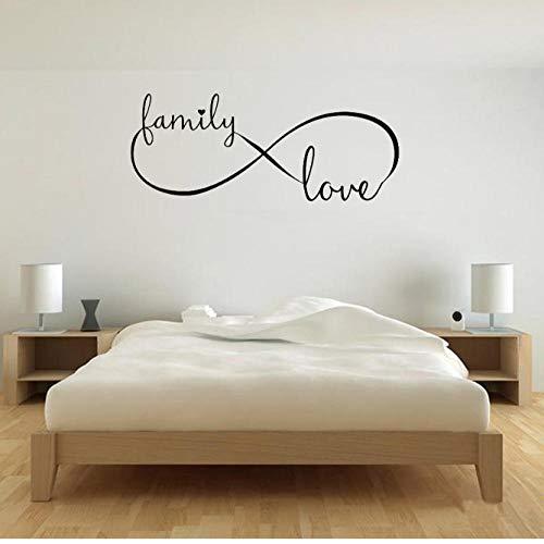 Infinity Family Love Decal Vinilo Adhesivo de pared Retrato Arte de la pared Matrimonio Dormitorio principal Papel tapiz para paredes en rollos Mural 30x72cm
